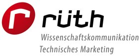 [Translate to English:] Logo Rüth Wissenschaftskommunikation